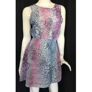 One & Only Dress tie dye animal print Small